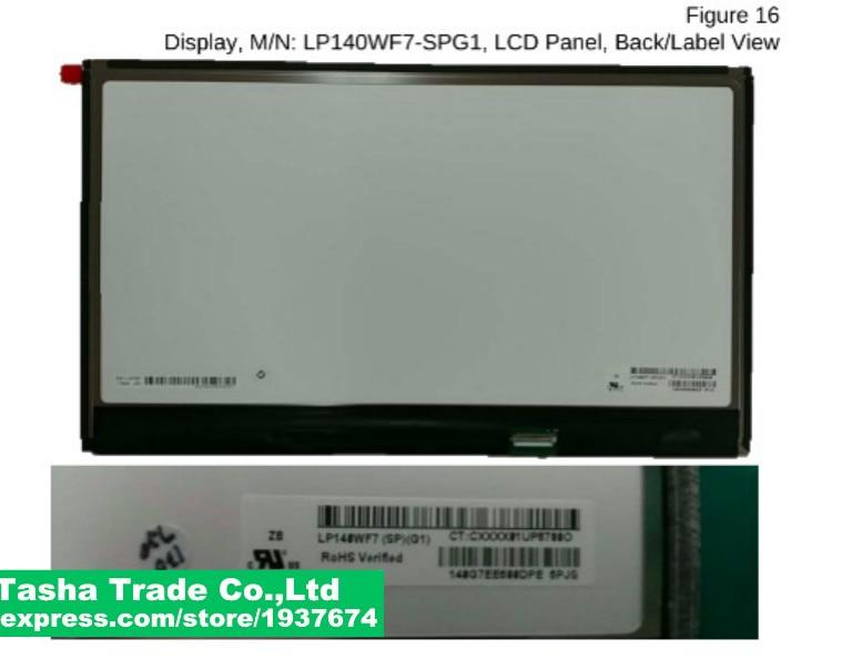 LP140WF7-SPG1 For LG NT-14Z980 gram 14Z980 Notebook 14 inch LCD screen LP140WF7 SPG1 LED LCD screen IPS matrix saniter notebook lcd screen nv140fhm n62 n61 n3b lp140wf7 spc1 n140hca eba 14 inch laptop screen