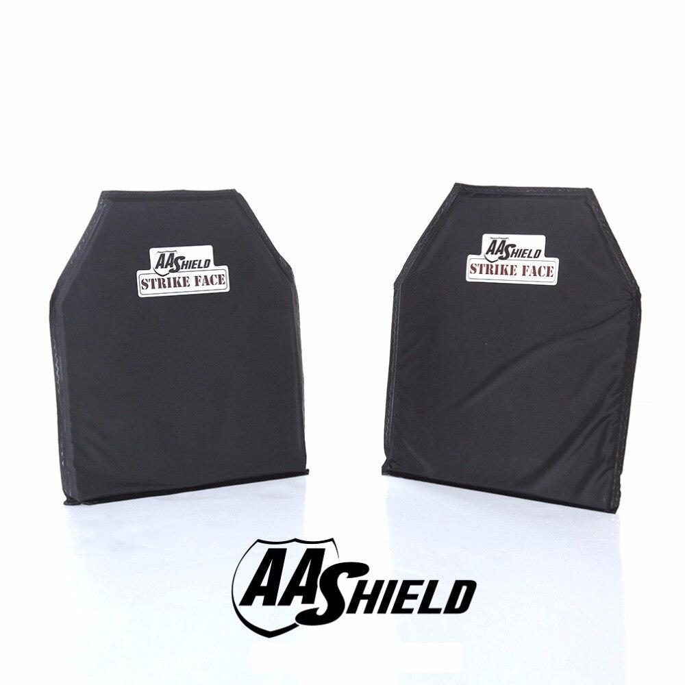 AA щит Bulletproof мягкие Панель доспех вставки безопасности пластины арамидных самообороны питания NIJ Lvl IIIA и HG2 10x12 #2 пара