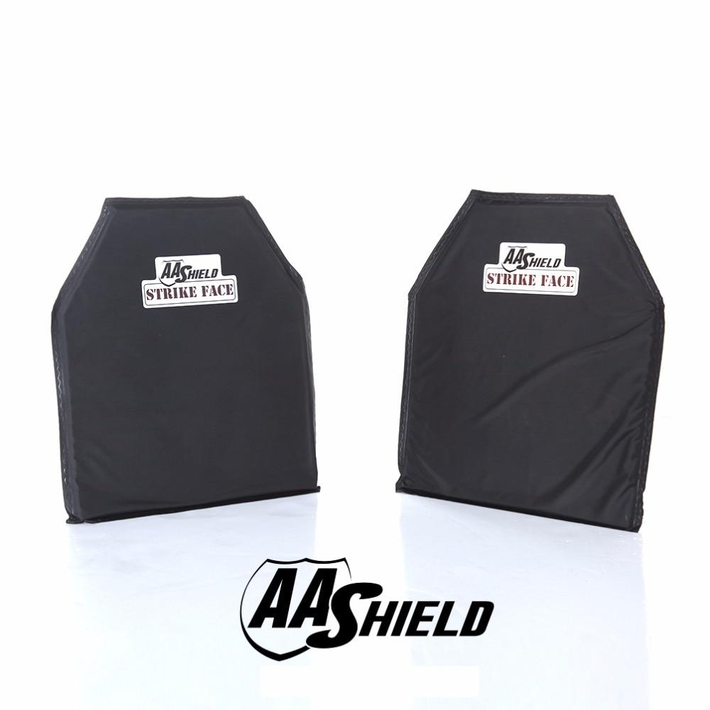 AA Shield Bulletproof Soft Panel Body Armor Inserts Safety Plate Aramid Self Defense Supply NIJ Lvl IIIA & HG2 10x12 #2 Pair