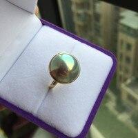 Для женщин подарок Слово стерлингового серебра 925 Настоящее длительный натуральный японский гребешок, жемчужные кольцо, серебристо голубо