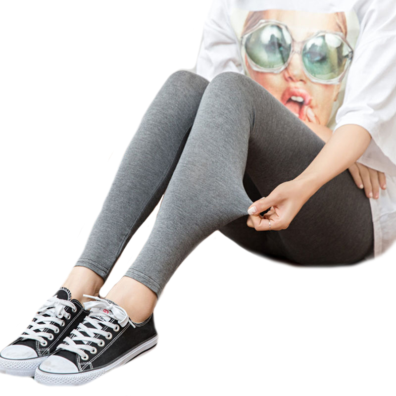 CUHAKCI Fitness Leggins Women Leggings Stretch Modal Cotton High Waist Comfortable Elastic Skinny Ladies Fashion Casual Pants