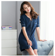 Free Shipping 2016 New  summer style Cotton Nightgown Nightdress pijama Ladies Sleepwear Women nightwear AW8260