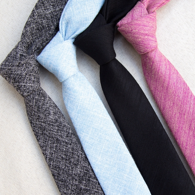 XGVOKH Striped Cotton slim Tie Fashion Design New 6 cm Ties For Men Wedding Necktie Paisley Corbatas party Gravatas Neck Tie
