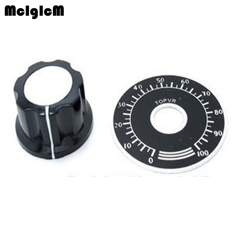 100 sets A03 dial knob MF A03 bakelite knob with scale plate sheet scale digital potentiometer