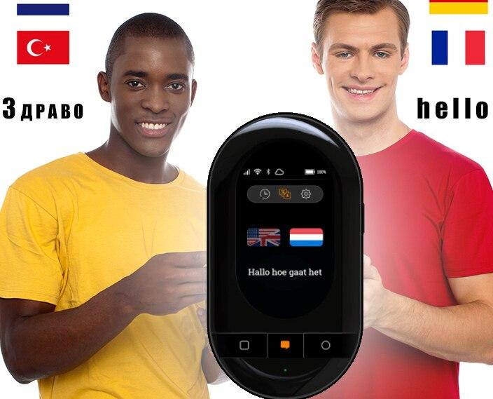 Mise à niveau Travis touch 2.0 traducteur vocal hors ligne en ligne 155 interprète de traduction linguistique voyage à l'étranger