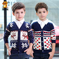 2017 new autumn&winter  children's clothing long sleeve letter pattern deer sweater kids baby cardigan sweater casual outwear