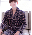 pajamas bathrobe nightgown and thick flannel long sleeved autumn winter  men design 2017 new design  top quality  ZX800