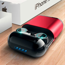 Bluetooth Headphones TWS Earbuds Wireless Bluetooth Earphones Stereo Headset mini Bluetooth Earphone With Mic and Charging Box(China)