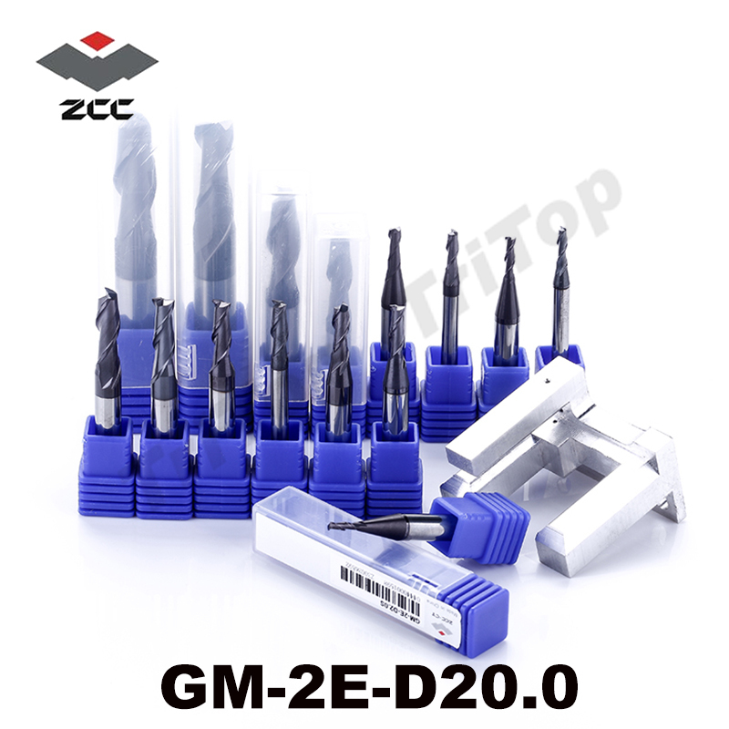 D20 END MILL 20mm diameter ZCC.CT GM-2E-D20.0 Cemented Carbide cnc milling 2 flute flattened end mills with straight shank high precision machining zcc ct al 3e d20 0 solid carbide 3 flute flattened cnc end mill 20mm straight shank milling cutter
