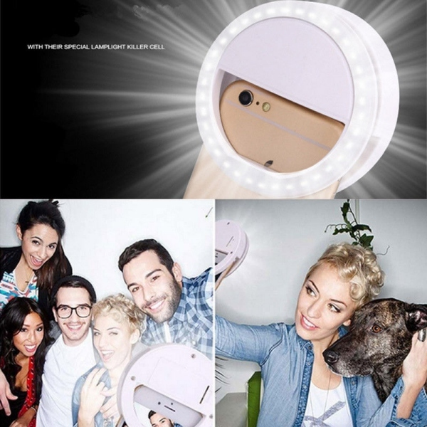 Portable Flash Led Camera Phone Photography Ring Light Enhancing Photography for Smartphone iPhone Samsung