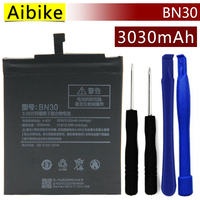 Aibike New Original Mobile Phone Battery BN30 For Xiaomi Redmi 4A Battery 3030mAh Real Replacement Gift