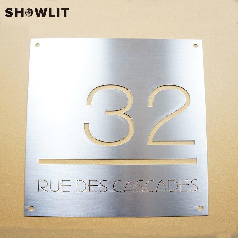 Modern Address Plaque Plate Modern with Door Number