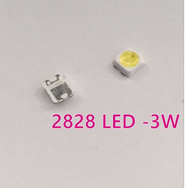 100pcs 2828 LED Backlight TT321A 1.5W-3W with zener 3V 3228 2828 Cool white LCD Backlight for TV TV Application(China)