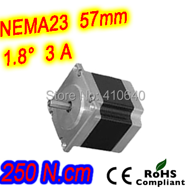 цена 3 pieces per lot high torque step motor 23HS45-3004S L 115 mm Nema 23 with 1.8 deg 3 A 250 N.cm and bipolar 4 lead wires