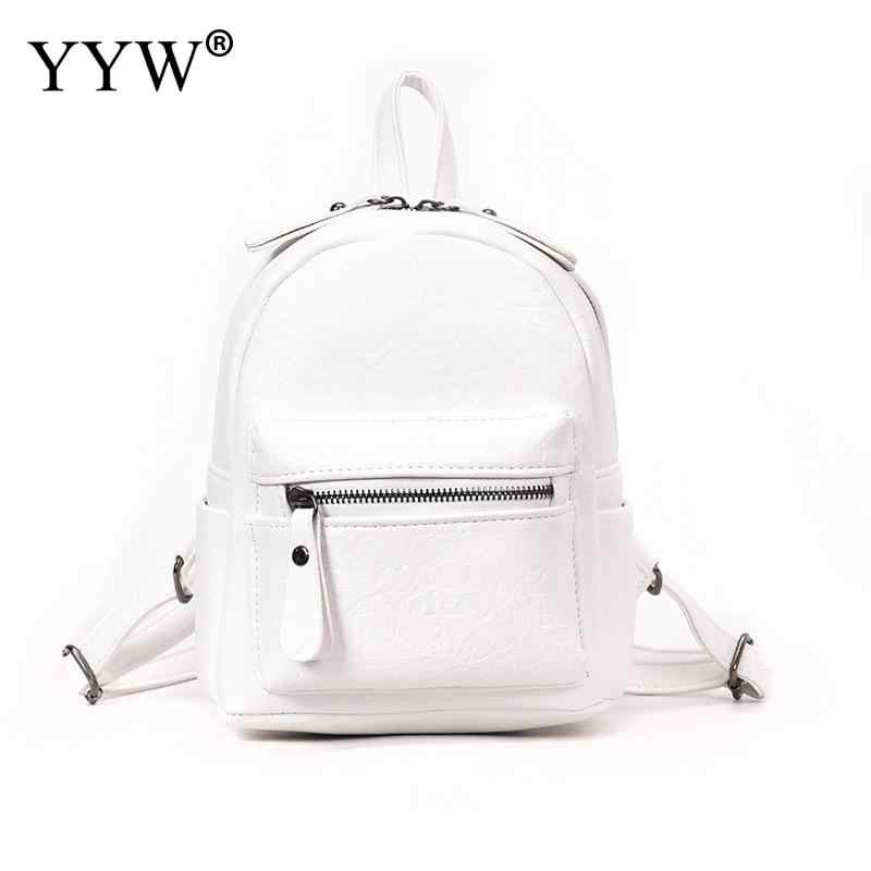 f4db4ddc0d0c YYW Women Backpacks Fashion Pu Leather Back Packs For Teenage Girl Mini  Daypack Female Zipper Concise