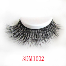 Natural 3D 100% Real Mink False Eye Lashes/ Mink Individual Fake Eyelashes Extensions For Makeup Free Shipping 2016 DM1002