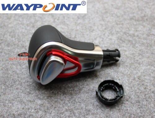 Chrome Pommeau de levier de vitesses En Cuir noir Pour AUDI A3 A4 A5 A6 Q7 Q5 2009 2010 2011 2012