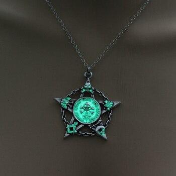 Luminous Star Skull Pendant Necklace2