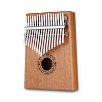 W-17 T 17 teclas Kalimba pulgar Piano de madera de alta calidad cuerpo de caoba instrumento Musical con aprendizaje libro Tune martillo