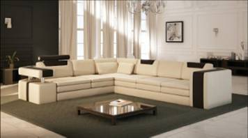 Free Shipping L Shaped Genuine Leather Hard Wood Frame Sofa Clic Sectional Corner