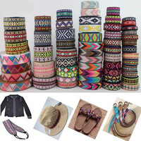50Yard/lot DIY Zakka Handmade Accessories Ribbon Laciness Woven Jacquard Ribbon Ethnic Embroidery Accessories Lace Ribbon 2.5cm