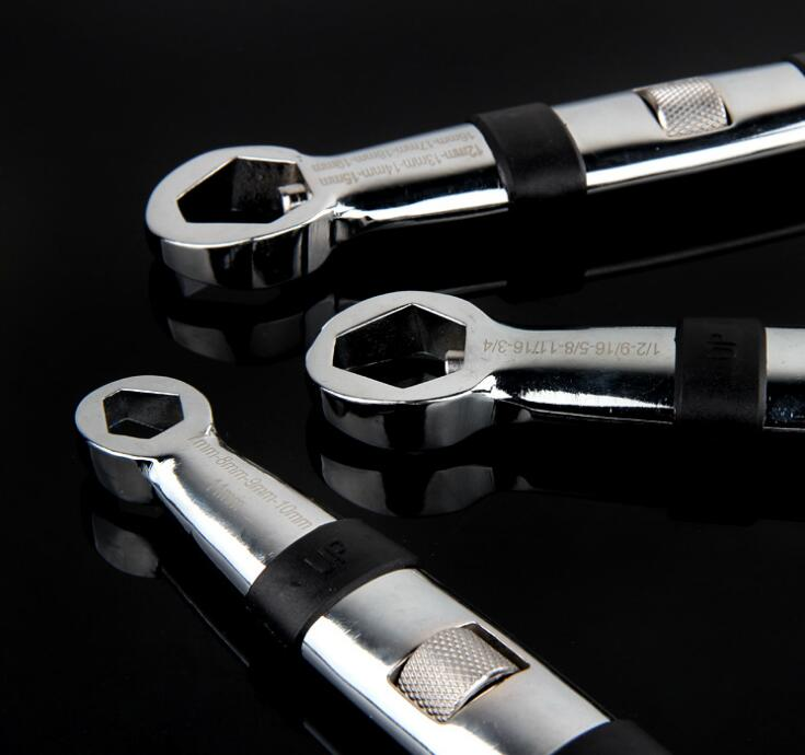Free shipping high quality universal metric & inch wrench socket wrench