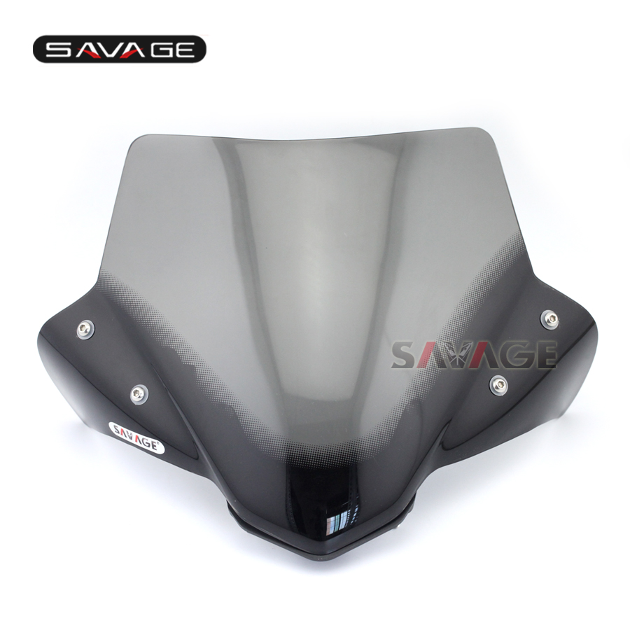 new arrival motorcycle windshield windscreen pare brise smoke for yamaha mt 07 mt07 fz 07 2014. Black Bedroom Furniture Sets. Home Design Ideas