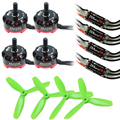 4 Pcs Emax rs2205/emax 2205 2300kv Cooling Motor+4Pcs littlebee pro 20a+4pcs 5045 Prop for QAV250 Fpv Mini Racing Quadcopter