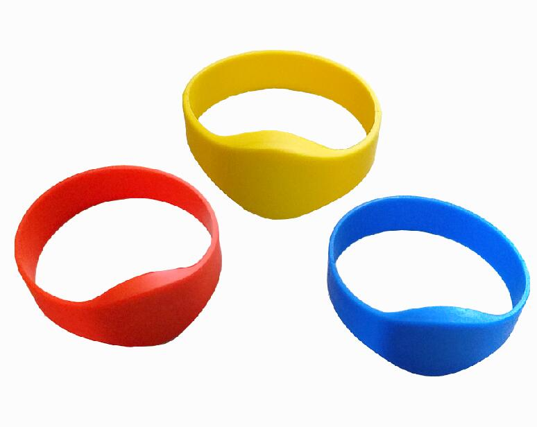 200pcs/Lot 13.56Mhz RFID Bracelet Wristband Proximity Waterproof Silicone NFC Smart Watch Type for Access Control