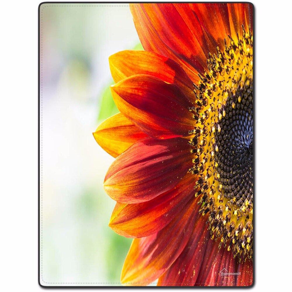 Decke Komfort Dnnen Weichen Klimaanlage Pflegeleicht Maschine Waschen Sofa Bed Werfen Warme Sunflower Roten Bltenbltter