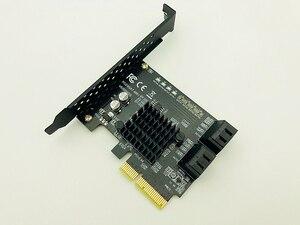 Image 3 - マーベル 88SE9230 SATA PCI Express 4 ポート拡張カード SATA コントローラ PCI E Raid カード PCI E に SATA3.0 アダプタコンバータカード
