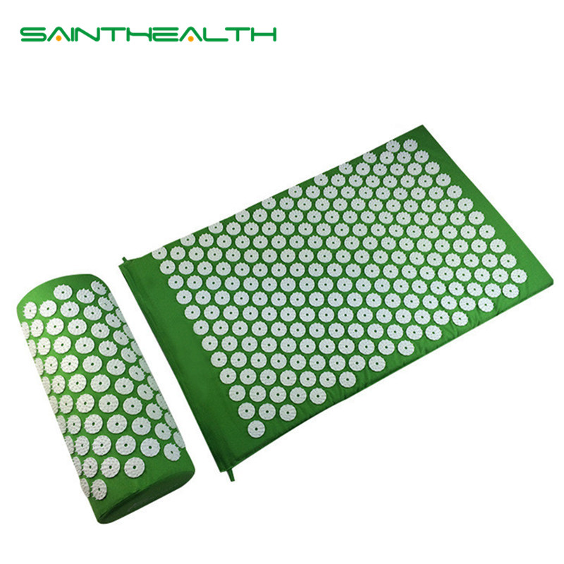 Massager (appro.67*42cm)Cushion Shakti Mat Acupressure Relieve Back Body Pain Spike Mat Acupuncture Massage Yoga Mat with Pillow seiko sse011j1
