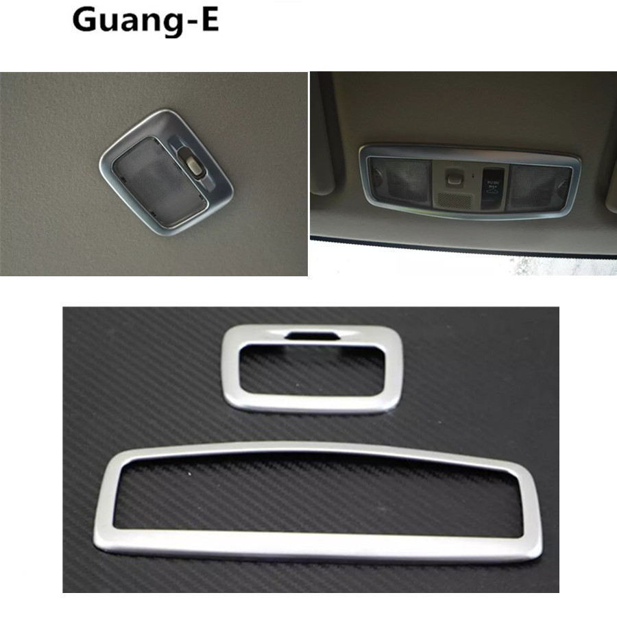 Car styling cover ABS chrome head rear back read front reading light lamp trim hoods For Mitsubishi Outlander 2016 2017 2018