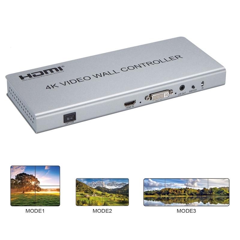 New 2X2 4K Video Wall Controller HDMI DVI TV Processor support three models 2x2 1x2 1x4 display with RS232 txc 3225 3 2x2 5mm 11 0592m 11 0592mhz