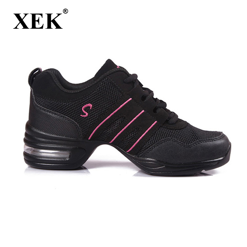 New 2019 Women Dance Shoes Girls Sports Soft Outsole Breath Women Sneakers Practice Shoes Modern Jazz Shoes Sneakers