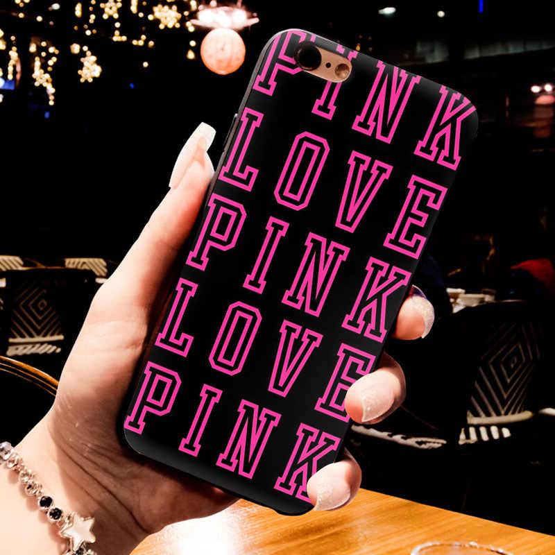 Yinuoda любовь розовый девчушки довольно Роскошные Вертикальный черный силиконовый мягкий чехол для телефона для iphone 8 7 6 6 S Plus X XS MAX XR 5 5S SECover