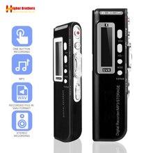 المحمولة 8G مسجل صوتي USB المهنية 96 ساعة تشغيل الإملاء الصوت الرقمي مسجل صوتي الصوت مع WAV ، مشغل MP3