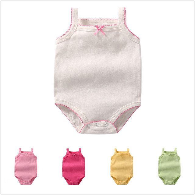 5 pcs set Newborns Bodysuits For Girls Boys Sleeveless Bodysuits Solid White  Bodysuit Baby Cotton Body For Babies ROBG059641856 d1c0aa5a6