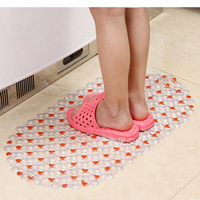 37 66cm Candy Colors Plastic Bath Mats Easy Bathroom Massage Carpet Shower Room Non Slip Mat