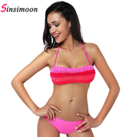 High Quality Sexy Swimwear Bikini 2015 Fashion Swimwear Bathing Suit Sexy Halter Swimsuit Bikini Set Maillot