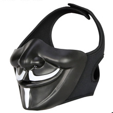 New Tactical Airsoft Paintball Protective Half-Face Mask CS Game Mask Halloween Mask party mask цена