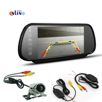 7 Inch TFT Color Mirror LCD Car Screen Monitor Wireless With A Trigger Line HD 170
