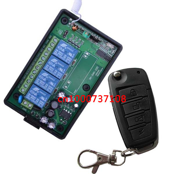 AC110V 220V 4channels rf remote receiver transmitter 315mhz wireless receiver 4 channel wireless remote control