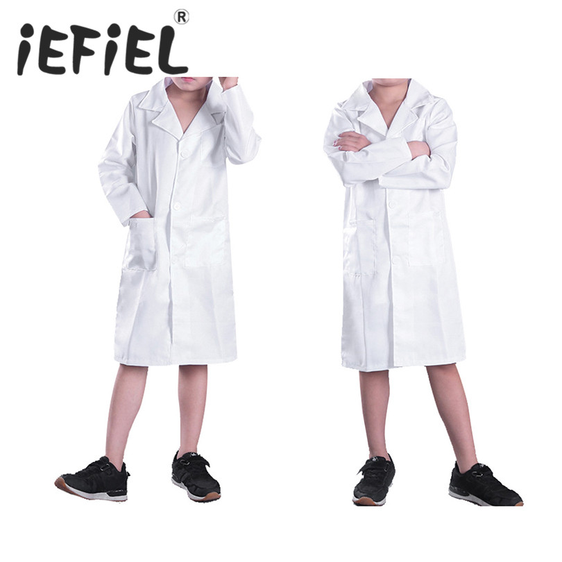 Kids Child Cosplay Costumes Girls Boys Doctor Uniforms Role Play Dress Up Party Wear Fancy Girls Cosplay Doctor Jacket Lab Coat