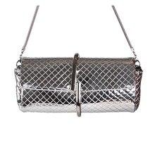 4ce1b4794 2019 de plata de cuero de la PU de la cadena de hombro bolsas de marco de  Metal bolsa Vintage, bolso para niñas monedero embragu.