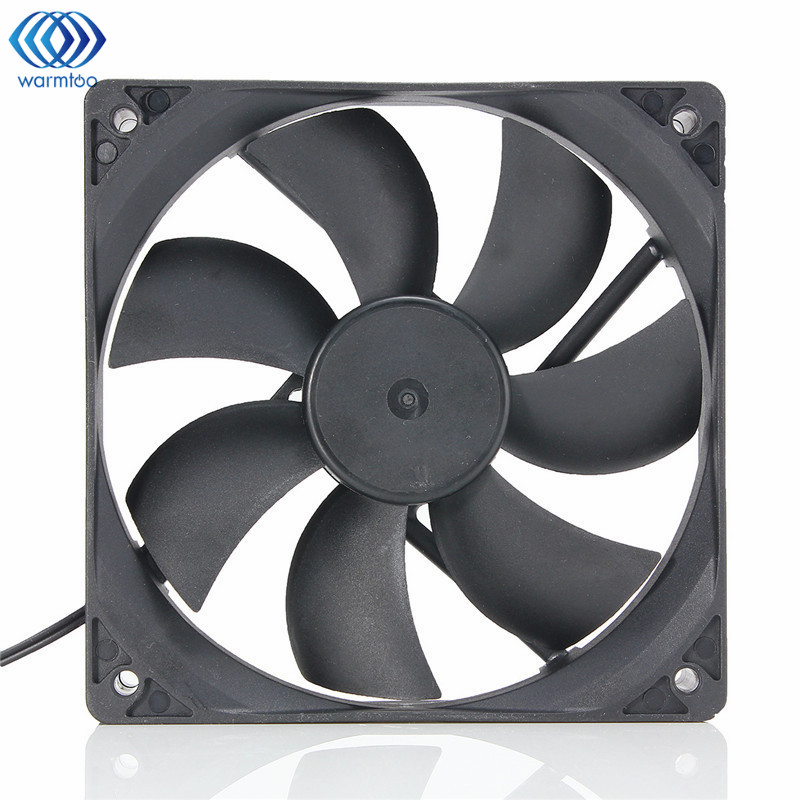 1Pc Black USB Cooling Fan Silent Computer Case PC CPU DC 5V 120 x120 x25mm Brushless aerocool 15 blade 1 56w mute model computer cpu cooling fan black 12 x 12cm 7v