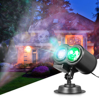 Tomshine Remote Control 2 In 1 Water Wave Lamp LED Kaleidoscope Projector Projecting Halloween/Xmas Light Lawn Landscape