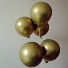 Metal balloon 15pcs/lot 12inch thick round golden balloons babyshower decoration baloons birthday ballon anniversaire