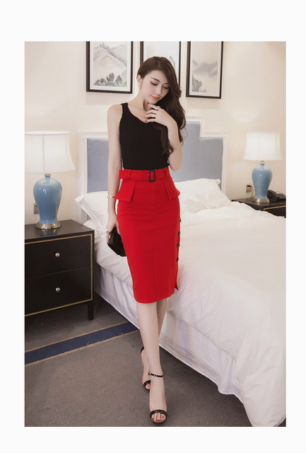 2017 Slim Ladies High Waist  For Casual Or Office Skirt – 5XL Plus Size