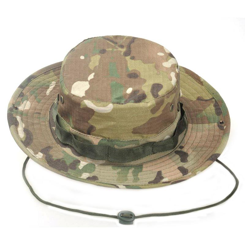 d4f6e2b5c High Quality Tactical Airsoft Sniper Camouflage Boonie Hats Men And Women  Outdoor Mountaineering Cap Military Hunting Caps